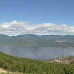 Panorama of northern part of Lake Okanagan taken from our Superior room on the 2nd floor.