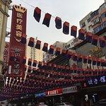 中国語の看板も、もちろん多い