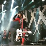 Rockers Sixx:AM on the big stage at Grona Lund in Stockholm
