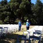 Setting up the chairs