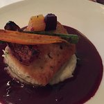 salmon with red wine reduction