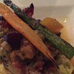 Swordfish with mushroom risotto