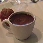 Chocolate/coffee pot au creme with cookie