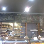 Lorne Bakehouse:  Main counter and menu board  [July 2016]