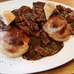 Steak pie at the Spotted Cow Elwick