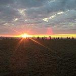 Le coucher de soleil vu de la terrasse