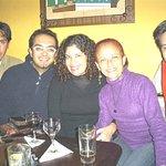 Compartiendo conb amigos del grupo musical Guapacha