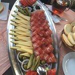 Kvarner teller für 2 Käse/schinken teller als vorspeise In der konoba,gemütlich und familiär mit