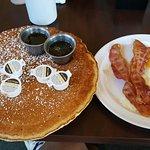 Menu and my 10 inch pancake!!