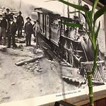 One of the MANY old photographs showing the history of the charming Whistle Stop on the Swamp Ra