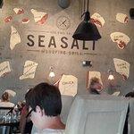Large back wall at SeaSalt Grill