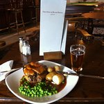 Steak and ale pie with Whitstable Bay pale ale.