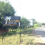 Once you walk out of Moyogalpa town center, there is a sign on the main road directing you to th