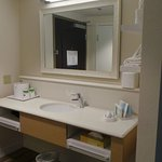 Guest room Vanity by entrance