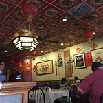 Small but inviting interior with a real Chinese feel.