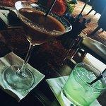 An der Hotel-Bar.. Chocolate Martini & Cucumber Drink!