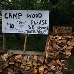Right before you enter the camp ground, they sell woods cheap on the road