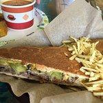 Cubano sandwich and Cuban chili