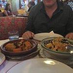 Chicken tagine, lamb couscous