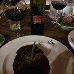 NY steak and red wine from ABRUZZE my region