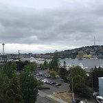 View from our room - Lake Union and Space Needle