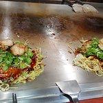 Okonomiyaki with scallops!