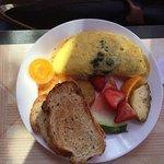 Omelette épinard et chèvre