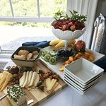 Fruit and cheese display you can order to your room!