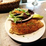 Pistachio and parmesan crusted trout