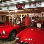 Some of his cars that he collects, all red!