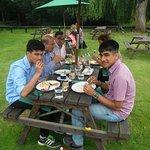 My friends having lunch