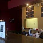 The cashier area