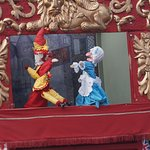 Punch and Judy outside the hotel on the promenade (Thats the way to do it)
