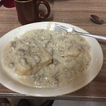 Biscuits and Gravy. Checkout the sausage!