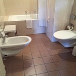 bathroom was large, and the only one in Switzerland that we stayed in that had a bidet