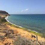 Una de las vistas subiendo a las pequeñas montañas de la isla.