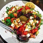 Greek salad at Meze Lounge
