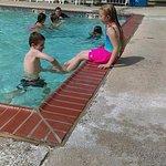 Grand kids enjoyed the pool