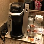 Loved the Keurig in the room.
