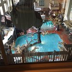 View of the pool from our 4th floor room window.