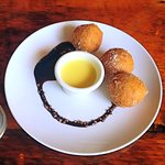 Ricotta Donut Holes with Creme Anglais (S.A.L.T.)