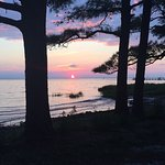Sunset on the Chesapeake Bay at Pier 4, Cherrystone Campground, July 29, 2016