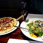 Rocky Mountain Pizza and Fresh Caesar Salad w/Oranges, Berries Etc.