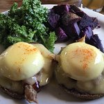 Kailua pig on a Taro muffin Eggs Benedict is the best Eggs Benedict I've had in my life. It's a