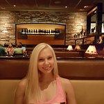 Jessica enjoying her favorite filet