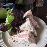 Salmon and cucumber with cream cheese