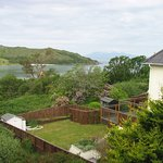 View from the window of room one, overlooking Morar Bay and Rum