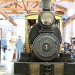 Restored locomotive at train museum