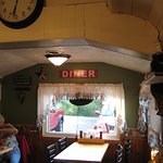 View of the other end of the original railroad car diner