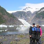 Kayaking in Aialik glacier lagoon